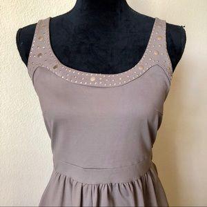 Cynthia Rowley Taupe Nylon Sleeveless Dress